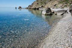 Calma no cabo de Meganom, Crimeia fotos de stock