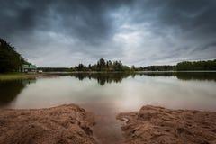 Calma prima della tempesta in Finlandia Immagini Stock