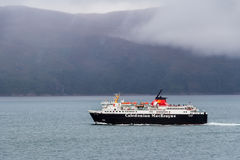 Calmac ferry towards Mull. MULL, ARGYLL, SCOTLAND - SEPTEMBER 25, 2014: Caledonian MacBrayne ferry navigating from Oban. Calmac vessels operate routes and Stock Photography