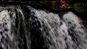 Calmando, calme la cascada durante septiembre en Escocia Las aguas de la vida almacen de video
