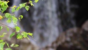 Calmando, calme la cascada durante septiembre en Escocia Las aguas de la vida Caídas de Buar metrajes