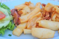 Calmar frit délicieux Images stock