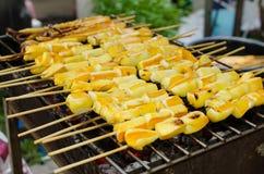 Calmar grillé Image stock