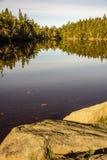 Calme de matin sur le lac image libre de droits