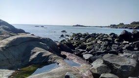 Calme de pierre de grès de l'eau Photo stock