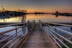 Calme tranquille sur le dock Photos libres de droits