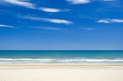 Calmed water. Empty beach Stock Images