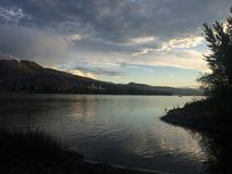 Calming Kamloops sunset Royalty Free Stock Images