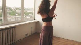 Calming practice inspired woman dancing energy
