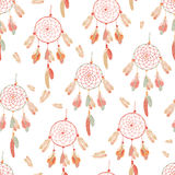 Calming sunny dream catcher. Seamless vector print Royalty Free Stock Photography