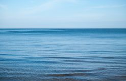 Calmly blue sea Stock Photos