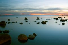 Calmness. Baltic sea. viimsi, estonia Royalty Free Stock Image