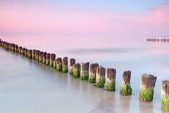 Calmness alla spiaggia. fotografia stock