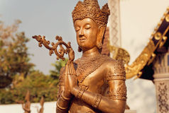 Calmness Buddha with crown. Stock Photos