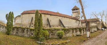 Calnic中世纪堡垒在罗马尼亚 免版税库存图片