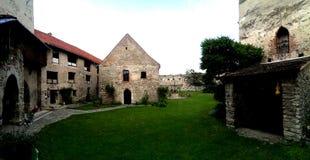 Calnic citadel - courtyard Royalty Free Stock Photo