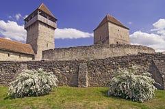 calnic forteczny średniowieczny Romania Transylvania obrazy stock