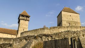 Calnic Medieval Fortress in Romania. Calnic Medieval Fortress in Transylvania, Alba, Romania, a tourist attraction listed on UNESCO`s World Heritage Sites royalty free stock photos