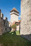 Calnic medieval fortress in Transylvania Romania Stock Photo