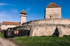 Calnic中世纪堡垒在Transylvania罗马尼亚 免版税库存照片