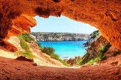 Calo des Moro plaża obrazy royalty free