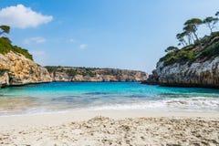 Calo des Moro - tråd, Mallorca Arkivfoton