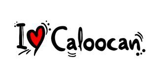 Caloocan city of Philippines love message. Creative design of love city message Royalty Free Stock Image