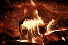 Calor del entusiasmo de la vida del fuego de la hoguera foto de archivo