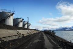 Calor e central eléctrica combinados em Barentsburg Fotografia de Stock Royalty Free