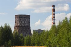 Calor e central energética Imagem de Stock