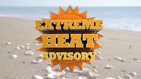Calor extremo consultivo - aviso do tempo da vaga de calor video estoque