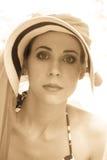 Calor que desgasta de la mujer elegante Fotografía de archivo libre de regalías