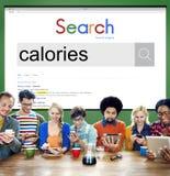 Calorías de la dieta de la comida de la salud de concepto de la nutrición Imagenes de archivo