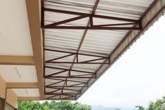 Calore dell'isolamento della stagnola d'argento sul tetto del soffitto Fotografia Stock