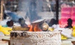 Calore durante la colata delle immagini di Buddha Fotografie Stock