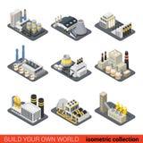 Calore nucleare della fabbrica dell'impianto di energia di potere che riscalda GA illustrazione vettoriale
