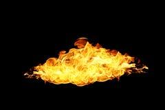 Calore rosso del fondo di struttura della fiamma del fuoco della fiammata Fotografia Stock Libera da Diritti