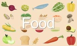 Calorias do alimento que jantam beber comendo o conceito da nutrição Fotografia de Stock Royalty Free
