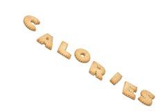 Calorias do texto dos bolinhos Fotografia de Stock Royalty Free