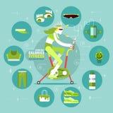Calorie brucianti di forma fisica Infographics Fotografia Stock Libera da Diritti