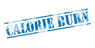 Calorie Burn blue stamp. Isolated on white background Royalty Free Stock Photos