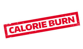 Calorie Burn rubber stamp Stock Image