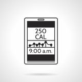 Calorie counter black vector icon Stock Images