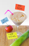 Calorie counting, calories Royalty Free Stock Images