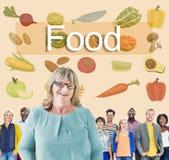 Calorie dell'alimento che pranzano bere mangiando concetto di nutrizione Fotografia Stock