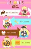 Calorie di ragazze Fotografie Stock Libere da Diritti