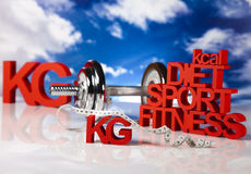 Calorie, Kilograms, Sport diet Royalty Free Stock Images