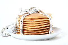 Calorie pancakes Royalty Free Stock Photos
