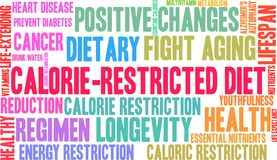 Calorie-Restricted Diet Word Cloud Royalty Free Stock Image