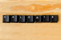 Calorie word. With keyboard buttons Stock Photography